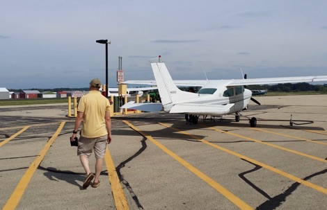 Dodge County Airport Fuel Island